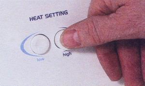 Рис. 25 Проверьте установку температуры